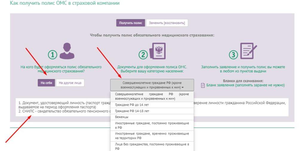 Документы на полис РЕСО МЕД